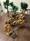 Fontanini Nativity Pieces for 5 Set 3 Kings 3 trees lighted campfire and dr