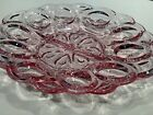 VINTAGE L E Smith Glass Moon and Star RARE Oval Egg Tray Plate or Platter