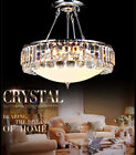 Modern Round Crystal Chandelier Luxury Glass Hanging Ceiling Light Pendant Lamp