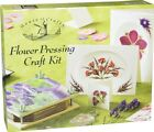 House OF Crafts Flower Pressing Craft Kit Gift Set With Wooden Press Scrap Resin