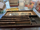 VTG Rubber Stamp Wood Block Print Set Wooden BoxThe Art Sign And Price Marker