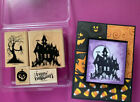Stamp Up House of Haunts Spooky Haunted House Tree Owl Halloween Rubber Stmp