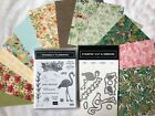 Stampin Up Friendly Flamingo Flamingo Dies  Tropical Oasis DSP 126x6sheets