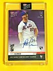 Pete Alonso 2019 Topps Now PURPLE #23 25 HR Derby Auto Autograph NY Mets RC