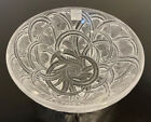 Lalique Glass Pinsons Frosted Bowl Sparrows  Leaves France 925