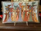 Peggy Karr Fused Art Glass Rectangular Plate Dish w Cats Signed