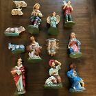 Vintage 13 Piece Large Scale Paper Mache Composition Nativity Set Made in Japan