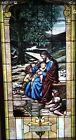 ANTIQUE METHODIST STAIN GLASS FROM A CLOSED CHURCH