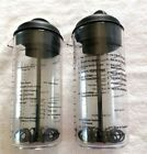 Pampered Chef Mix  Pour Salad Dressing Mixer Shaker 2265 USA 16 oz LOT OF 2