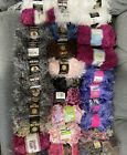 Lion Brand Yarn Fun Fur Lot Of 32 New Assorted Brands Assorted Styles Colors