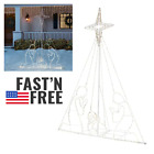 7 Ft Nativity Scene 397 LED Lights Christmas Outdoor Yard Decorations Clearance
