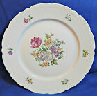 Vintage Bouquet LOT of 3 DINNER PLATES by Europa Czechoslovakia floral gold trim