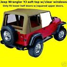 HALF DOORS soft top SPICE TINTED  852517 88-95 FOR Jeep Wrangler YJ