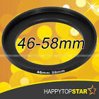 46mm to 58mm 46mm-58mm Step-Up Lens Filter Ring Adapter