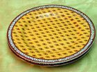 Avignon by Fitz Floyd LOT 2 SALAD DESSERT PLATES white laurel yellow rim vintage