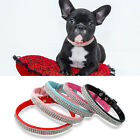 Bling Rhinestone PU Leather Puppy Cat Dog Collars for Poodle Dachshund Chihuahua