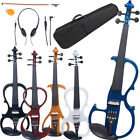 Cecilio Electric Violin Right or Left Handed Size 4 4 3 4 1 2 4 Styles 5 Colors