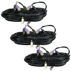 3x100ft Security Camera Video Power Extension Cable Pre-made All-in-One Cord 1qb