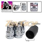 4 LOCK GORILLA FOR HONDA ACURA BALL RADIUS STOCK OEM WHEEL LUG NUT 12X1.5 CHROME