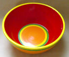 Dansk Caribe-Aruba Orange Red Soup Cereal Bowl 6 1/8 Inches