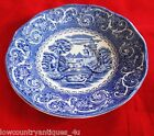 Staffordshire Canterbury Ironstone Porcelain River Scene Saucer Blue White