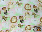 FLEECE ZOO ANIMALS PINK FABRIC BY THE YARD