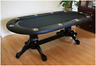 95 Solid Wood Poker Table without Dealer Spot Black