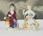 Pair of SITZENDORF VOIGHT DRESDEN Figurines Young Farm Boy, Girl 28/29 RARE! NR