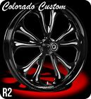 Colorado Custom Wheel Black Front R2 19 x 2.15 Harley Rocker C FXCW FXD FX