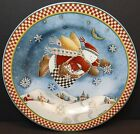Sakura Debbie Mumm Snow Angel Village Salad Plates Checkered Bag