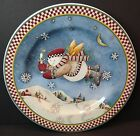 Sakura Debbie Mumm Snow Angel Village Salad Plates Candle