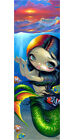 Jasmine Becket Griffith art BIG print SIGNED Reaching for Sunset mermaid fish