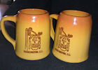 Monmouth Pottery Hill n'Dale Large Mugs Steins- Set of 2
