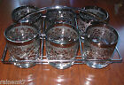 Mid Century Modern Silver Grapes On The Rocks Set With Caddy~Fast Shipping!