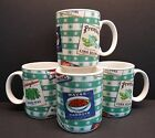 Omnibus Country Cupboard Fitz & Floyd Set of 4 Coffee Mugs Peas Carrots Tomatoes