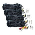 4x 100ft Audio Video Power Cable BNC RCA CCTV DVR Security Camera Wire Cord m1w