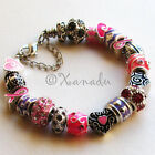 There Is Hope Pink Breast Cancer Awareness European Large Hole Charm Bracelet