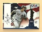 Todd Frazier 2007 USA Signed JERSEY Auto Autographed Pre Rookie Ball Card ## 295