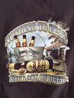 Mens T Shirt Nothing To Fear But Lack Of Beer Newport Blue Size L  XL Brown
