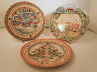 222 FIFTH STONEWARE TWELVE DAYS OF CHRISTMAS PLATES -SEVENTH,EIGHTH, NINTH DAYS