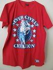 New Women's WWE Wrestling John Cena Red T-Shirt Never Give Up Can't See XXL 2XL