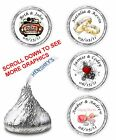 216 Wedding Bridal Shower Party Candy Favors Labels Kisses Wrapper Personalized