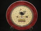 Debbie Mumm Weathervane Luncheon Plate - Chicken Hen - Sakura - NEW