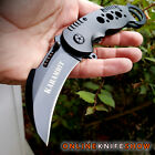 TAC-FORCE Spring Assisted Opening Knives Black KARAMBIT CLAW Rescue Pocket Knife