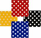 POLKA  DOT POLY COTTON CHECK TABLE CLOTH COVER - RED BLACK ROYAL-BLUE YELLOW ETC