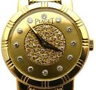 Piaget Dancer 80563 k 81 womens 18k / Pave Diamond face watch