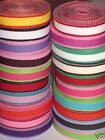 Grab Bag Lot Of Assorted 38 Grosgrain Lollipop Ribbon Two Tone 25 Or 50 Yards