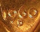 1960 D/D LINCOLN MEMORIAL PENNY, BU,  (RPM 013 LCR TOP 50)  ERROR COIN,  AF 120