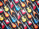 ROCK GUITARS ROCK & ROLL COLRFUL COTTON FABRIC BTHY