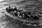 Survivors from The Titanic in a lifeboat - Quality Photo print A4, or A5  size